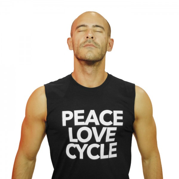 Tank Shirt Peace Love & Cycle Black