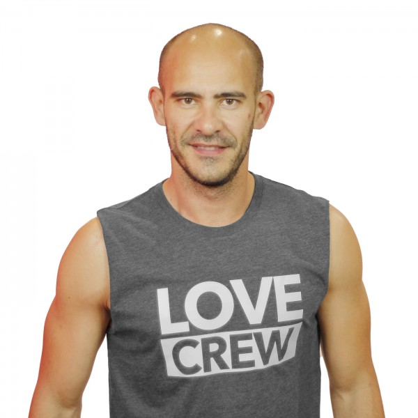 Tank Shirt Love Crew Grey