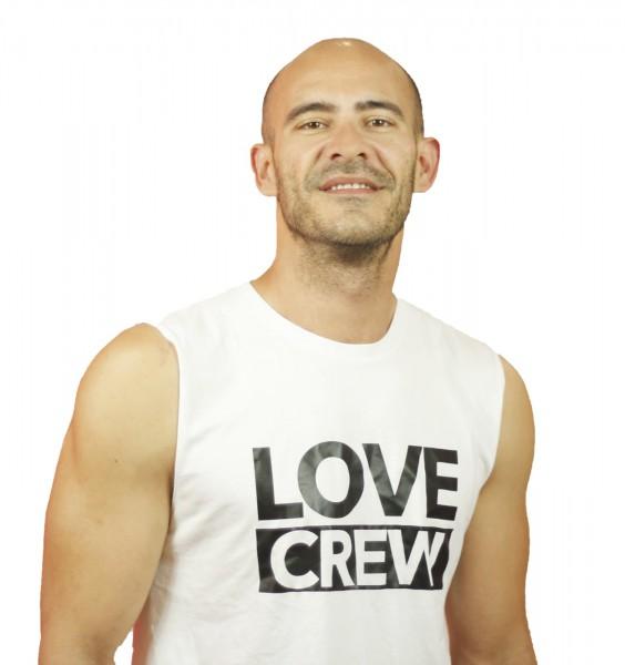 Tank Shirt Love Crew White