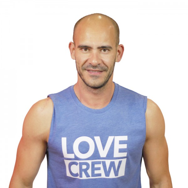 Tank Shirt Love Crew Bleu