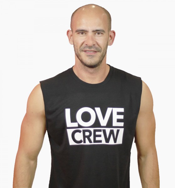 Tank Shirt Love Crew Black